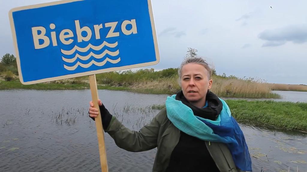 'River Sister' Małgorzata Górska from OTOP speaking up to protect Biebrza River in Poland